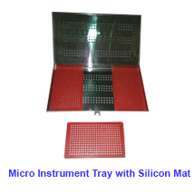 Micro Instrument Tray With Silicon Mat